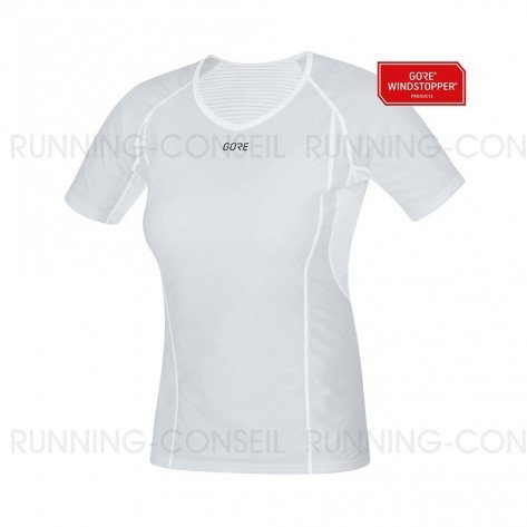 GORE® WINDSTOPPER BASE LAYER MAILLOT MANCHES COURTES FEMME | LIGHT GREY/WHITE | Collection Printemps-Été 2019