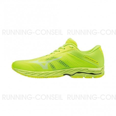 MIZUNO WAVE SHADOW 3 Homme | Safety Yellow / White / Safety Yellow