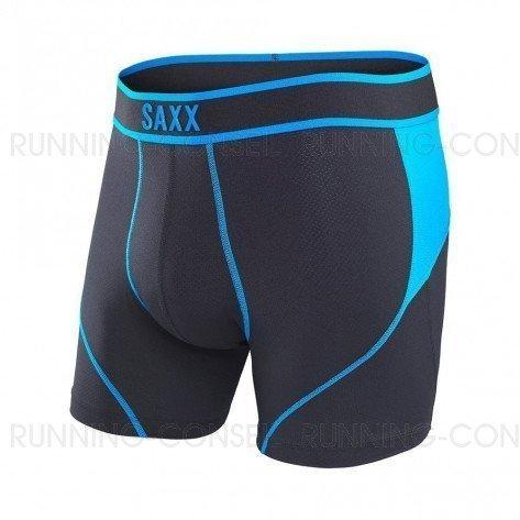 SAXX UNDERWEAR Kinetic Boxer brief Homme   Black/Electric Blue