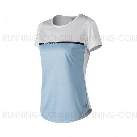 NEW BALANCE Tee-Shirt manches courtes PRINTED ACCELERATE v2 Femme   Air   Collection Printemps-Été SS2019