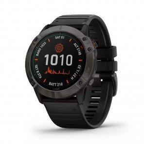 GARMIN fēnix 6X Pro Solar titane et carbon Gray DLC avec bracelet noir