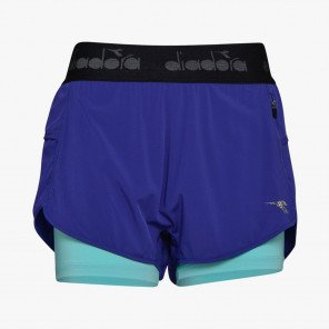 DIADORA L. DOUBLE LAYER SHORTS HOMME | BLUE CLEMATIS