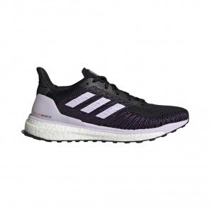 ADIDAS SOLARBOOST ST 19 Femme | Core Black / Purple Tint / Solar Red
