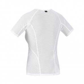 GORE®  BASE LAYER MAILLOT MANCHES COURTES FEMME | WHITE