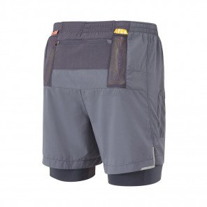 RONHILL Short TWIN MARATHON INFINITY Homme | Charcoal/Grey