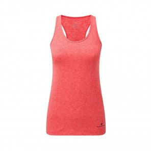 RONHILL Débardeur BODY MOMENTUM Femme | Hot Pink Marl/Charcoal | Collection Printemps-Été 2019
