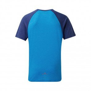 RONHILL T-SHIRT MANCHE COURTE MOMENTUM S/S Homme | ELECTRIC BLUE/MIDNIGHT BLUE