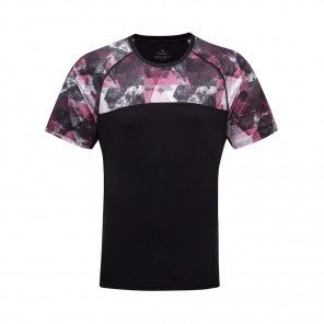 RONHILL T-SHIRT MANCHE COURTE REVIVE STRIDE Homme | BLACK/MULBERRY