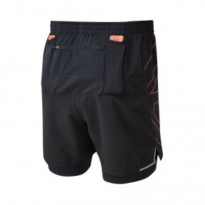 RONHILL SHORT TWIN MARATHON INFINITY Homme   MULBERRY/BRIGHT WHITE