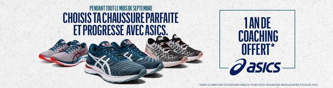 opération chaussures asics -20% running conseil